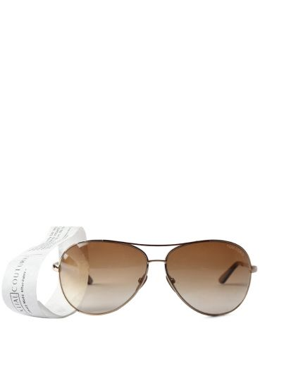 Charles Aviator Sunglasses in Gold-Brown