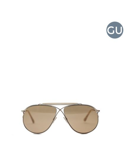 Gold metal Wrap aviator sunglasses