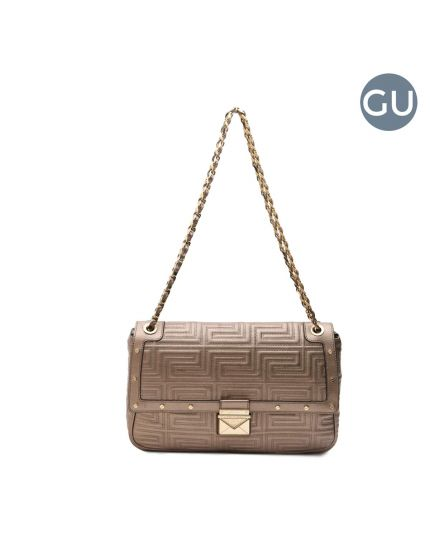 Quilted Leather front flap Couture Shoulder bag