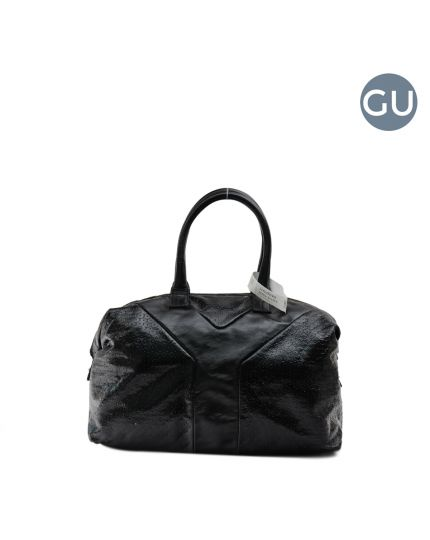 Black Patent Leather Large Muse Bag
