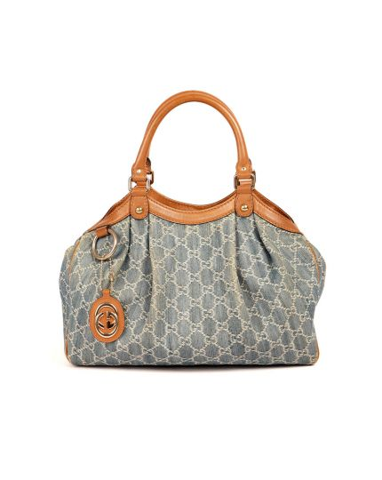 Sukey GG Denim And Medium Blue Bag