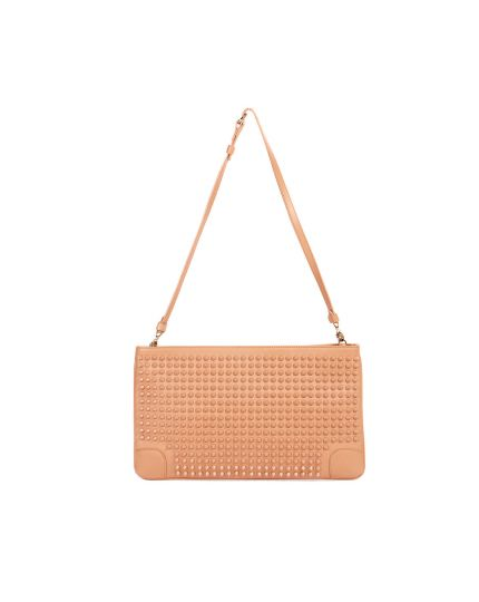 Christian Louboutin Nude Leather Studded Clutch