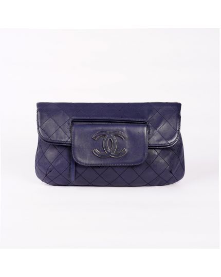 Chanel Fold Over Flap Clutch