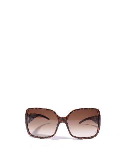 Jimmy Choo Tortoise acetate wrap sunglasses