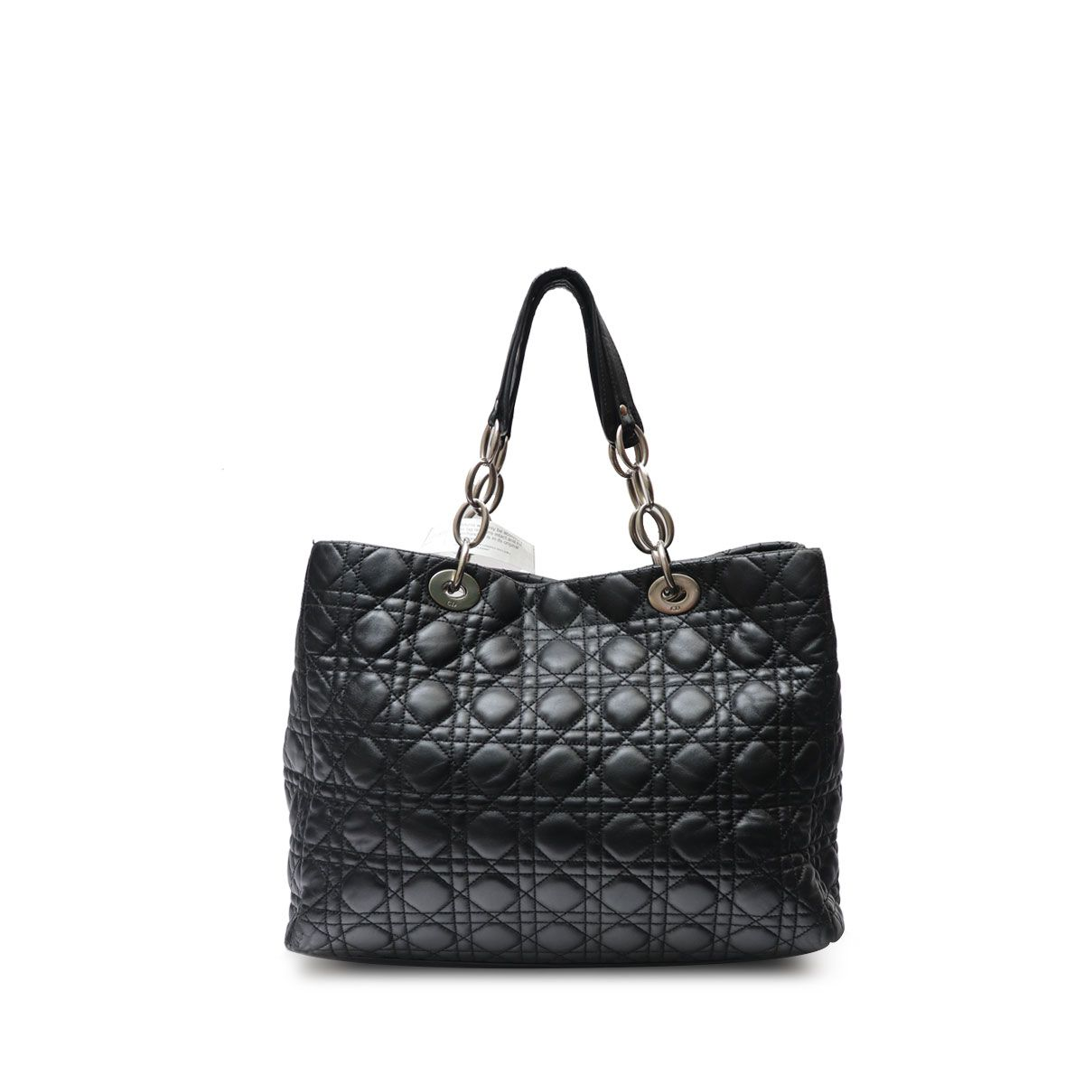75becaeac4 LADY DIOR BLACK CANNAGE SHOPPER TOTE