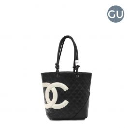 Chanel Black Cambon Hobo leather bag