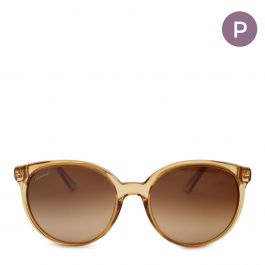 Womens Round yellow acetate sunglasses