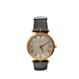 Womans Vintage Leather Strap Watch