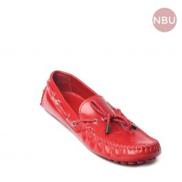 Men's Red Leather loafers Size  7.5