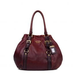 Prada Ombre Deerskin Leather Hobo