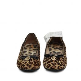 Womans Leopard print calf hair flats Size 33
