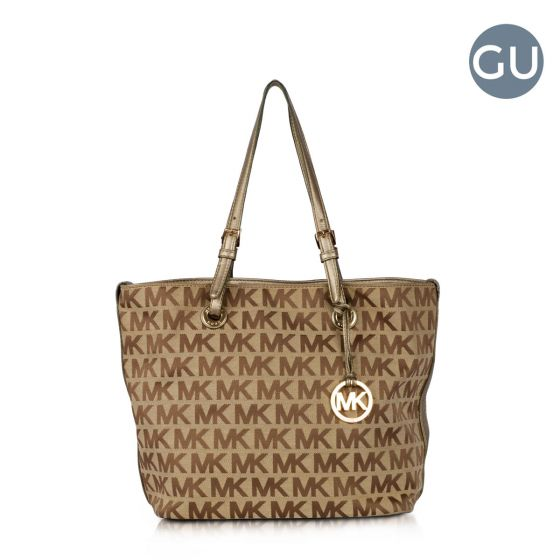 3d5ce491c Authentic Michael Kors signature block monogram tote. Authentic Michael  kors fabric.